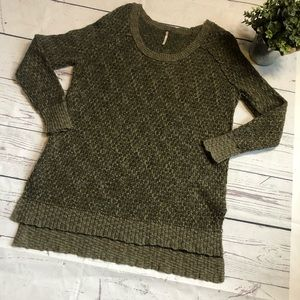 Free People Lightweight Sweater Light Brown